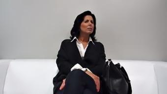 Beginner Czech milf sessions her first porno video