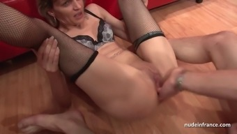 The casting of of spew mom in providing very difficult sodomized in threeway