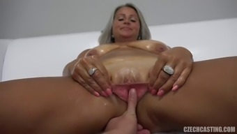 Horny young stud poker drills that often gilf's fuck gap challenging