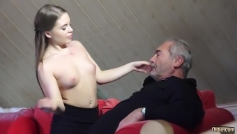 Old Young Porno Fucked Direct Grandpa in pussy