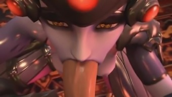 POV by using Widowmaker from Overwatch (three-dimensional Hi-def)