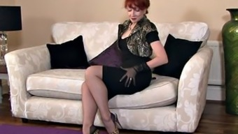 Redheaded Mothers With the use of Stockings In Solo Performance