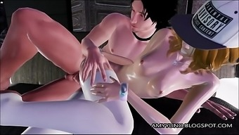 Sexy Blond Simulated Love In Light colored Stockings Fucked And Gets Body!