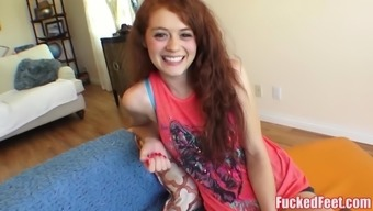 Lovely Teen Alice is Ready to Provide Footjob for FuckedFeet!