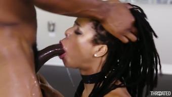 Mordant bf utilizing a vast dick fucks handle of ebony spiteful lady Kira Noir
