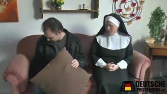 Nun by using vast tits