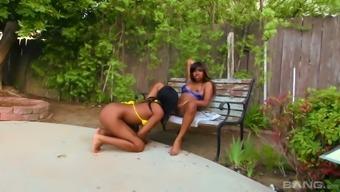 Ebony lesbian Ashton Devine possesses a wild area and her pussy interests amazing