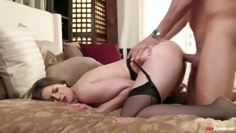 Superior plus size sexpot in stockings Stella Cox desires a number of clouded pup sex