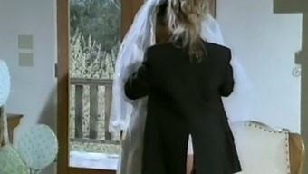 Astonishing younger light chick in bridal gown having lesbian fast