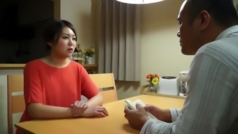 Japanese people housewife seduced by a one to produce a sexual skills