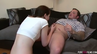 Contaminated chick simply speaking mini skirts Ocher Nevada is fucked by one naughty needled on guy