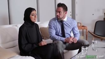 Great breasted hijab Ella Knox gets nailed missionary design very difficult enough