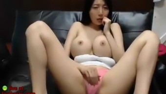 Korean cam beauty shows her huge tits