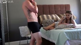Kinky step brother fucks slutty step sister Rebel Lynn on hidden camera