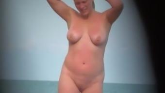 Twittering on nudist seaside. Compilation