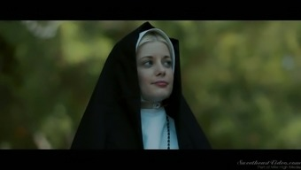 Sinful red haired nun Penny Pax is for that reason into trouncing wet pussy open air