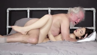 Grandpa fucks lovely youthful youngster pussy verbal creampie