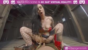 Astounding Green arrow cosplay fuck VR Porno online video