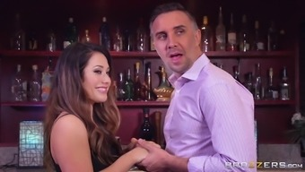 Eva Lovia gets energetic by using a man's dick within the bathroom