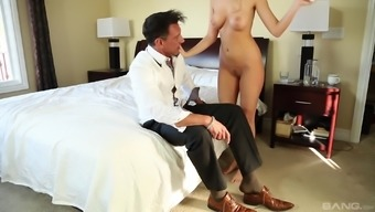 Handsome man discussions astonishing Alexis Adams into lovely his prick