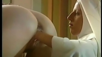 two nuns fuck priest and closed fist each other