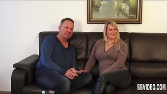 Big tits german milf takes two cocks