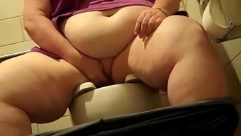 SSBBW Slut Pet Pisses in Public Bathroom