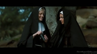 Brutally lovely babe Cents Pax is having intercourse with nun outdoor adventure