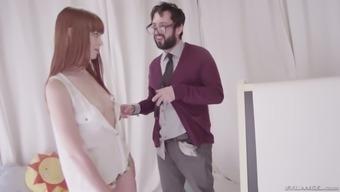 Alluring babe Alexa Nova is making love with her artist teacher