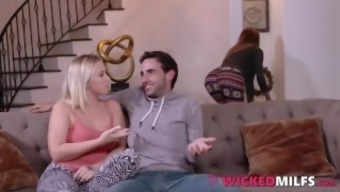 Horny Stepson Bangs His Hot Mom Natasha Starr And Jealous GF