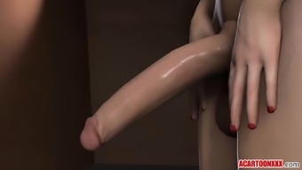 Hot 3D Elizabeth gets futanari cock in her cunt