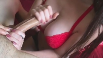 Handjob After college Before Mom's Home or office