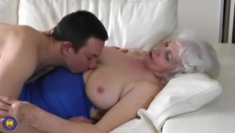 Granny Maria loves being penetrated by young studs