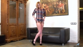 Totally concentrated on masturbation whore Ksukotzol teases her clit