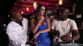 Dava Foxx is slender whore who doesn't mind being nailed by black studs