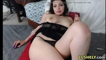 Cute asian girl loves fingering her hairy pussy on webcam