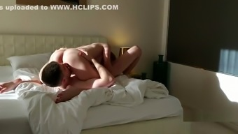 BROTHER AND STEP-SISTER MAKE LOVE ON PARENTS' BED
