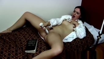 Possessed XXX Nun Stripping in Public - Xxx Horror