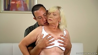 Chubby blonde mature whore Irene gives such a sensual blowjob