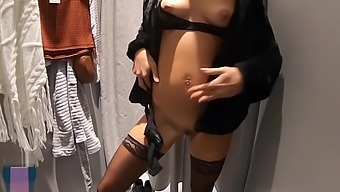 THIS GIRL IS FLASHING IN SHOPPING MALL AND THEN FUCK HARD IN PUBLIC TOILET