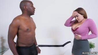 Super size black cock makes natasha nice moan