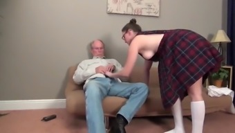 Lucky Old Man Fucks His First Naughty College Girl