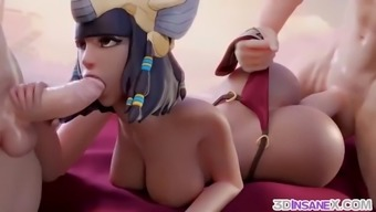 Sexy 3d game heroes get fucked in their cunts
