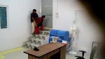 Indian Manager fucks her desi employee in the basement P1