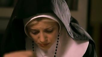 Beautiful nun masturbates