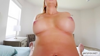 Hot mom with big tits paisley loves her step sons cock