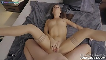 Nympho queen Alyssa Reece receives a dildo and a cock in her ass by Just ANAL powered by Only3x