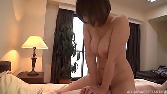 Passionate lovemaking with hot ass Japanese girl Hakii Haruka