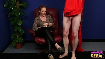 Nasty blonde Jenny Black drops on her knees to milk his cock