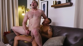 Video of passionate gay fucking between two horny studs at home